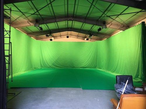 Studio fond vert,école cinema animation, école cinéma, école vfx, école effets spéciaux.
